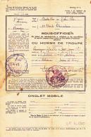 """Permission Libérable De Sept Jours - Cachet Double Couronne """"Bataillon De L'Air N° 1/702, Avord"""" Délivrée 1953 - Documenten"""