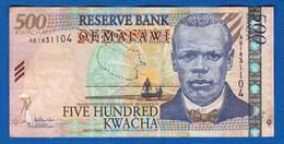 Malawi  500  Kwacha  Du  5/11/2005 - Malawi