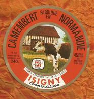 CALVADOS ETIQUETTE CAMEMBERT ISIGNY SUR MER SAINTE MERE ISI  JN181 - Cheese