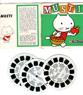 VIEWMASTER MUSTI Le Petit CHAT Blanc 3 Disques 1966 PHOTOS EN RELIEF - Stereoscopes - Side-by-side Viewers
