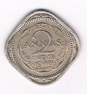 2 ANNAS 1946 INDIA /3474G/ - Inde