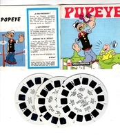 VIEWMASTER POPEYE Et OLIVE 3 Disques 1962 PHOTOS EN RELIEF - Stereoscopes - Side-by-side Viewers