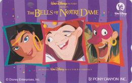 Télécarte NEUVE Japon / 110-011 - DISNEY / Bells Of Notre Dame D'après Victor Hugo * PONY CANYON *  Japan MINT Phonecard - Disney