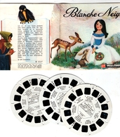 VIEWMASTER BLANCHE NEIGE 3 Disques 1966 PHOTOS EN RELIEF - Stereoscopes - Side-by-side Viewers