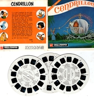 VIEWMASTER CENDRILLON 3 Disques 1965 PHOTOS EN RELIEF - Stereoscopes - Side-by-side Viewers