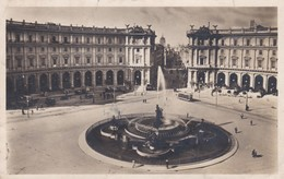 CARTOLINA - POSTCARD - ROMA - PIAZZA ESEDRA O CERMINI - Places & Squares