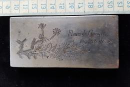 Tres Ancienne Petit Plaque D'impression En Acier Ou Fonte D'acier Debut 1900 - Seals