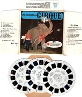 VIEWMASTER Une Journée Au CIRQUE BARNUM 3 Disques 1952 PHOTOS EN RELIEF - Stereoscopes - Side-by-side Viewers