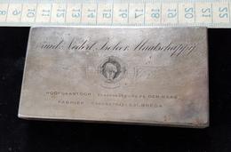 Tres Ancienne Petit Plaque D'impression En Acier Ou Fonte D'acier Debut 1900 - Cachets