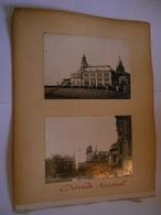 Lot De 4 Photographies Originales Circa 1900 Ostende Kursaal Terrasse Hotel De Ville Belgique  Faoue Photo Photographie - Lieux