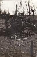 Photo Mai 1915 Secteur LANGEMARK (Langemark-Poelkapelle) - Une Vue, Les Restes D'un Canon De 150 (A196, Ww1, Wk 1) - Langemark-Poelkapelle