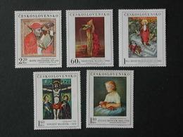 CHECOSLOVAQUIA 1969 - PINTURAS - YVERT Nº 1756-1760** - Tschechoslowakei/CSSR