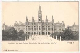 WIEN - Rathhaus Mit Den Statuen Historischer Persönlichkeiten Wien's - Ledermann 6554 - Wien Mitte