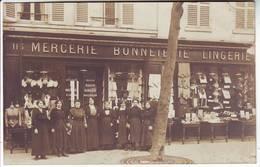 PARIS 15 Eme Rue Lecourbe MERCERIE RIGAUD  Carte Postale PHOTO ( Petit Defaut Sur Le E De LingeriE ) - District 15