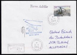 ANTARCTIC, TAAF, D'URVILLE,2014, HELI-Flight,sign,2 Cachets, Look Scan !! 11.4-07 - Antarctic Expeditions