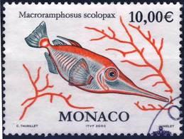 2330   POISSON  OBLITERE ANNEE 2002 - Monaco