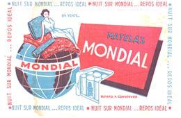 M Mo/Buvard Matelas Mondial  (Format 21 X 14) (N= 1) - Blotters