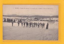 RUSSEY -25- Equipe Des Skieurs à La Montée Des (Couffots) Piste De 1500m - Altri Comuni