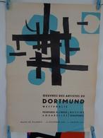 AFFICHE: Oeuvres Des Artistes De DORTMUND ,Wesphalie ,musée Picardie Du 20 Décembre 1958 -11janvier 1959 ,H 61,L 43,5 - Affiches