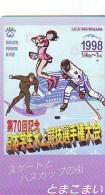 Télécarte Japon * Sport * PATINER * SCHAATSEN * ICE-SKATING * SPEED-SKATING   (139)  Japan Phonecard * Telefonkarte - Sport