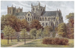 Ripon Cathedral By A R Quinton Unused C1936 Salmon 1484 - Quinton, AR