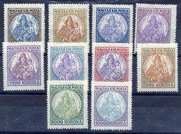 HUNGARY 1921-25 Patrona Hungariae Set Of 10 MH / *.  Michel 322-23, 374-79, 401-02 - Hungary