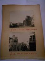 Lot De 4 Photographies Originales Circa 1900 Gand Beffroi Canal  Faoue Photo Photographie - Lieux