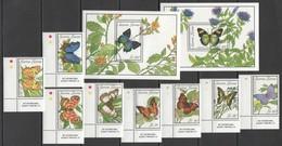 F206 SIERRA LEONE FLORA & FAUNA BUTTERFLIES FLOWERS !!! 1SET+2BL MNH - Schmetterlinge