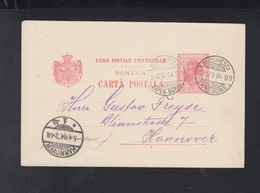 Romania Stationery 1904 Bucuresti To Hannover - Ganzsachen