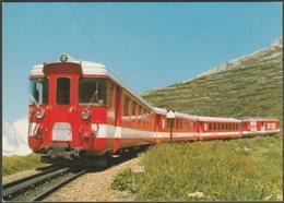 Furka-Oberalp-Bahn Pendelzug Mit BDeh 4/4 II 92 Bei Nätschen - Minirex AK - Trains