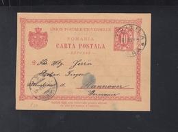Romania Stationery Chitila To Hannover - Interi Postali