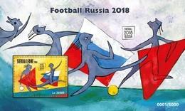 SIERRA LEONE 2016 SHEET FOOTBALL RUSSIA 2018 WORLD CUP SOCCER FUTBOL SPORTS DEPORTES Srl16705b - Sierra Leone (1961-...)