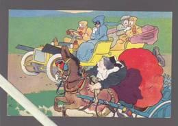 Illustrateur Matet - Cheval Emballé Et Automobile - Illustrateurs & Photographes