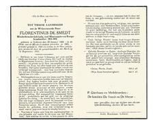 P 536. E.Pater FLORENTINUS DE SMEDT - Minderbroeder Jubilaris/Miss. KONGO/ Brankardier 1914-1918 - LOKEREN 1882/1953 - Images Religieuses