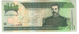 Dominican Republic 10 Pesos 2002 UNC - Dominicana