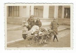 MOTO Et Side-Car - Photo 8.8 X 6 Cm - Photos