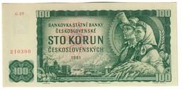 Czechoslovakia 100 Korun 1961/1990 AUNC - Tchécoslovaquie