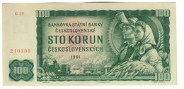 Czechoslovakia 100 Korun 1961/1990 AUNC - Cecoslovacchia