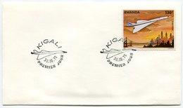 RC 9236 CONCORDE 1978 KIGALI RWANDA 1er JOUR FDC - Concorde