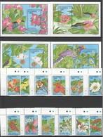 F227 GAMBIA FLORA & FAUNA FLOWERS BIRDS !!! BIG SET+4BL MNH - Plants
