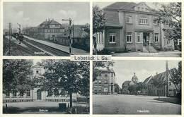 D1315 Allemagne Lobstadt I. Sa. School Ecole Scule Bahnhof Train Station Gare - Germania