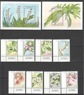 F230 GHANA FLORA FLOWERS !!! 1SET+2BL MNH - Végétaux
