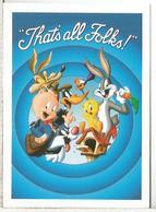 ESTADOS UNIDOS USA ENTERO POSTAL THAT'S ALL FOLKS CINE CARTOON PORKY PIG LOONEY TOONS CINE FILM - Cinéma