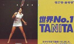 Télécarte Japon * Sport *  TENNIS  *  MARINA HINGIS  *  (1986)  PHONECARD JAPAN * TELEFONKARTE * - Sport
