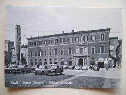 1962 - Imola - Piazza Matteotti E Palazzo Comunale - Animata - Cartolina Storica Originale Firmata Da Angelo Banzola - Imola