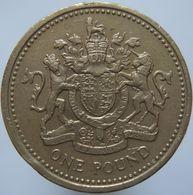 Great Britain 1 Pound 1983 F / VF - 1971-…: Dezimalwährungen