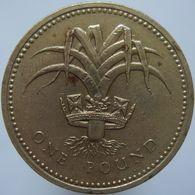 Great Britain 1 Pound 1990 VF - 1971-…: Dezimalwährungen