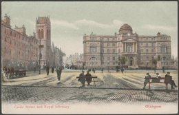 Castle Street And Royal Infirmary, Glasgow, 1905 - McCulloch Postcard - Lanarkshire / Glasgow