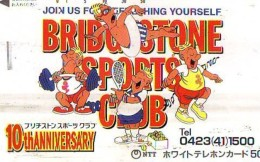 Télécarte Japon * Sport *  TENNIS  * 110-011 * BRIDGESTONE *   (1996)  PHONECARD JAPAN * TELEFONKARTE * - Sport