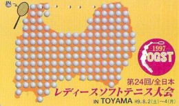 Télécarte Japon * Sport *  TENNIS  * 110-015  *  (2001)  PHONECARD JAPAN * TELEFONKARTE * - Sport